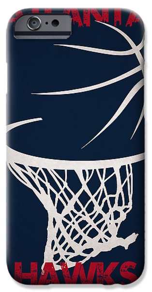 Dunk iPhone Cases - Atlanta Hawks Hoop iPhone Case by Joe Hamilton