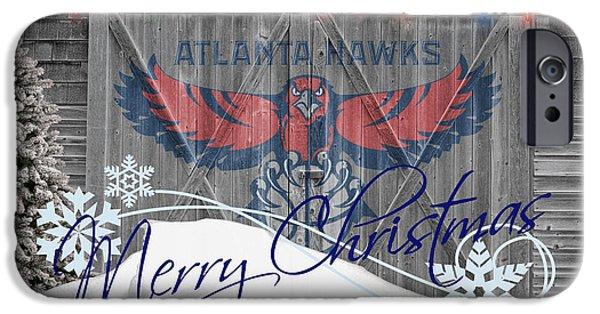 Dunk iPhone Cases - Atlanta Hawks iPhone Case by Joe Hamilton