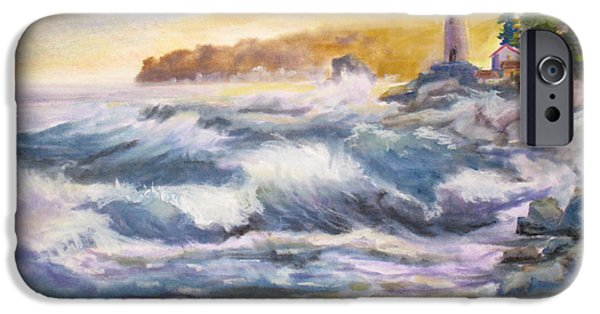 Concept Paintings iPhone Cases - Atlantic Agitation iPhone Case by Mohamed Hirji