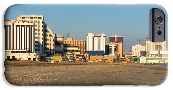 Atlantic iPhone Cases - Atlantic City at Sunset iPhone Case by Olivier Le Queinec