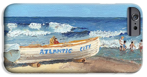 Jersey Shore Paintings iPhone Cases - Atlantic City Beach iPhone Case by Arch
