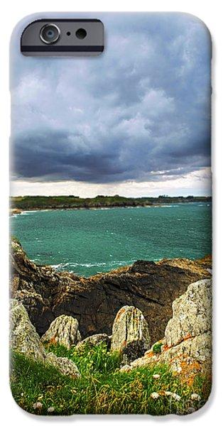 Rag iPhone Cases - Atlantic coastline in Brittany iPhone Case by Elena Elisseeva