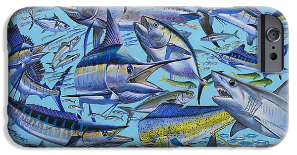 Wild Trout iPhone Cases - Atlantic Gamefish Off008 iPhone Case by Carey Chen