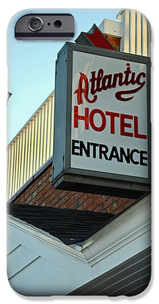 ATLANTIC HOTEL iPhone Case by Skip Willits