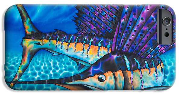 Ocean Tapestries - Textiles iPhone Cases - Atlantic Sailfish iPhone Case by Daniel Jean-Baptiste