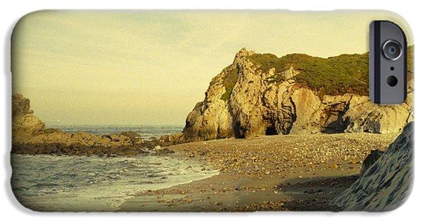 Analog iPhone Cases - Atlantic seascape Asturias Spain iPhone Case by Juan  Bosco