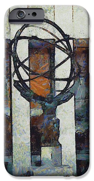 Buildings Mixed Media iPhone Cases - Atlas Statue Rockefeller Center iPhone Case by Dan Sproul