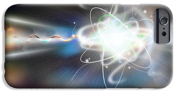 Components iPhone Cases - Atom Collision iPhone Case by Mike Agliolo