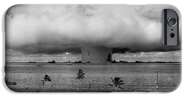 Atomic iPhone Cases - Atomic Bomb Test iPhone Case by Mountain Dreams