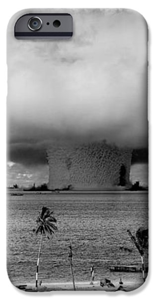 Atomic Bomb Test iPhone Case by Mountain Dreams
