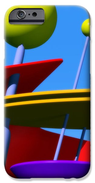 Atomic Dream iPhone Case by Richard Rizzo