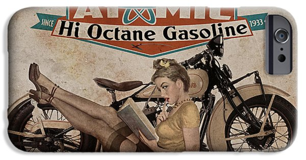Pin-up iPhone Cases - Atomic Gasoline iPhone Case by Cinema Photography