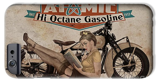 1940s iPhone Cases - Atomic Gasoline iPhone Case by Cinema Photography