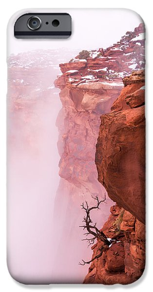 Cliffs iPhone Cases - Atop Canyonlands iPhone Case by Chad Dutson