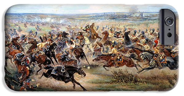 The Horse Digital Art iPhone Cases - Attack Of The Horse Regiment iPhone Case by Victor Mazurovsky