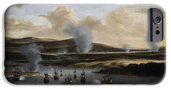 Chatham iPhone Cases - Attack On Chatham, C. 1668, By Willem Schellinks 1627?-1678 iPhone Case by Bridgeman Images