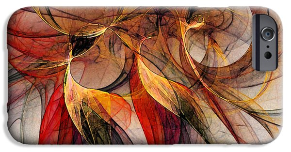 Abstract Expressionism Digital iPhone Cases - Attempt to Escape-Abstract Art iPhone Case by Karin Kuhlmann