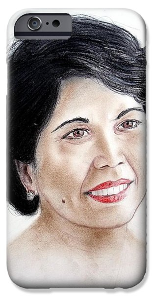 Attractive Filipina Woman with a Facial Mole iPhone Case by Jim Fitzpatrick