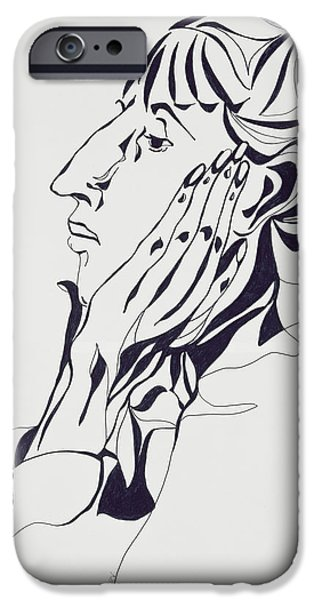 Celebrities Art iPhone Cases - Aubrey Beardsley iPhone Case by Stevie Taylor