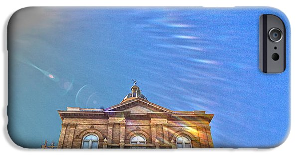 Historic Site iPhone Cases - Auburn Courthouse 2 iPhone Case by Cheryl Young