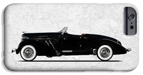 Auburn iPhone Cases - Auburn Speedster 1936 iPhone Case by Mark Rogan