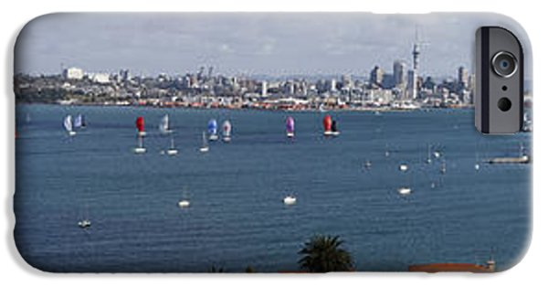 Sailing iPhone Cases - Auckland NZ iPhone Case by Les Cunliffe