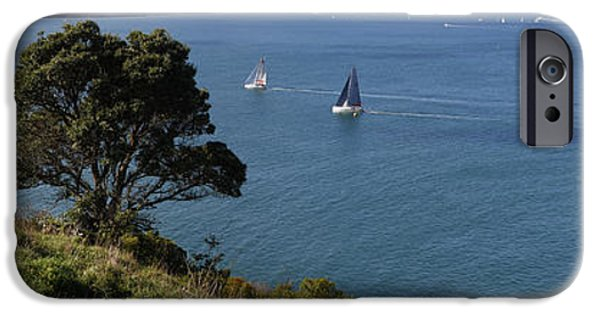 Sailing iPhone Cases - Auckland sailing iPhone Case by Les Cunliffe