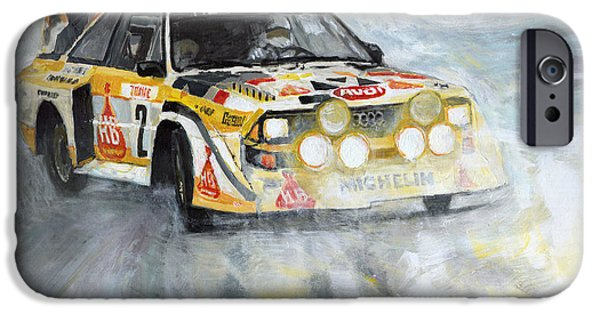 Rally iPhone Cases - Audi Quattro S1 iPhone Case by Yuriy Shevchuk