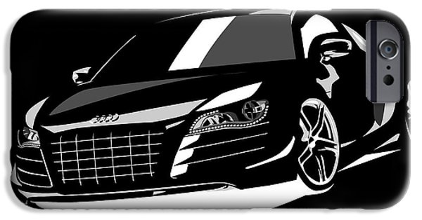 Sport Cars iPhone Cases - Audi R8 iPhone Case by Michael Tompsett
