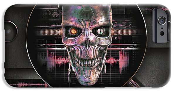 Sound Mixed Media iPhone Cases - Audiophile 2496 iPhone Case by Franziskus Pfleghart
