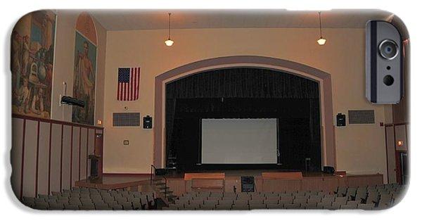 Clare Michigan iPhone Cases - Auditorium in Clare Michigan iPhone Case by Terri Gostola