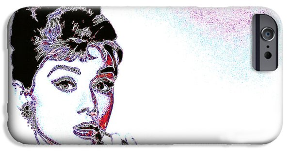 Wing Chee Tong iPhone Cases - Audrey Hepburn 20130330 iPhone Case by Wingsdomain Art and Photography