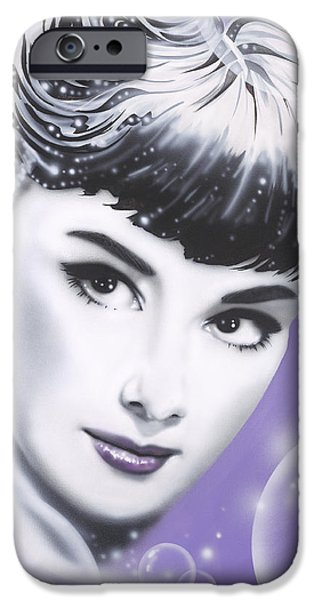 Audrey Hepburn iPhone Case by Alicia Hayes