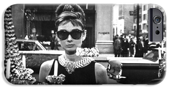 Celebrities Digital iPhone Cases - Audrey Hepburn Breakfast at Tiffanys iPhone Case by Nomad Art And  Design