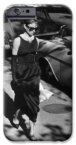 Celebrities Photographs iPhone Cases - Audrey Hepburn in Breakfast at Tiffanys iPhone Case by Nomad Art And  Design