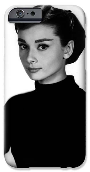 1950s Movies iPhone Cases - Audrey Hepburn in Funny Face iPhone Case by Nomad Art And  Design