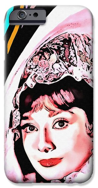 United iPhone Cases - Audrey Hepburn in My Fair Lady iPhone Case by Art Cinema Gallery