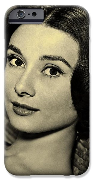 Kathleen iPhone Cases - Audrey Hepburn  iPhone Case by Movie Poster Prints