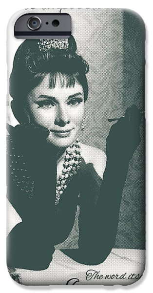 Quote iPhone Cases - Audrey Hepburn Quote iPhone Case by Gina Dsgn