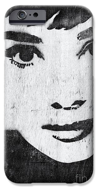 Celebrities Photographs iPhone Cases - Audrey Hepburn iPhone Case by Tim Gainey