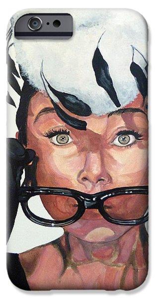Audrey Hepburn iPhone Case by Tom Roderick