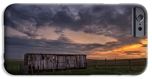 Barbed Wire Fences iPhone Cases - August Boxcar iPhone Case by Thomas Zimmerman