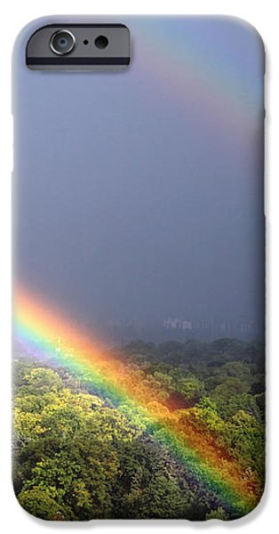 August Double Rainbow iPhone Case by Charline Xia
