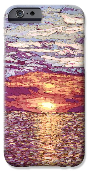 Clouds Tapestries - Textiles iPhone Cases - August Sunset  iPhone Case by Terri Haugen