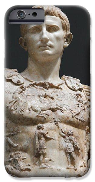 Julius Caesar iPhone Cases - Augustus Prima Porta. Vatican Museums iPhone Case by Bridgeman Images