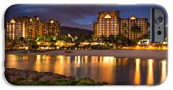 Banzai iPhone Cases - Aulani Disney Resort at Ko Olina iPhone Case by Tin Lung Chao