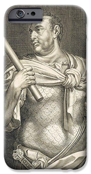 Ruler iPhone Cases - Aullus Vitellius Emperor of Rome iPhone Case by Titian