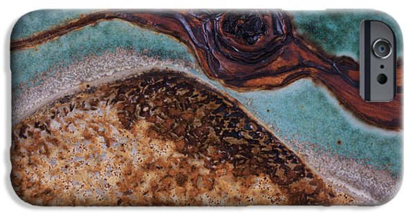 Texture Ceramics iPhone Cases - Aura iPhone Case by Gail Frasier