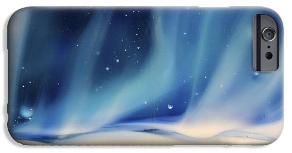 Blue Abstracts Glass iPhone Cases - Aurora 1 iPhone Case by Kimberly Lyon