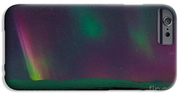 Snowy Night iPhone Cases - Aurora Borealis, Lapland, Sweden iPhone Case by Babak Tafreshi, Twan